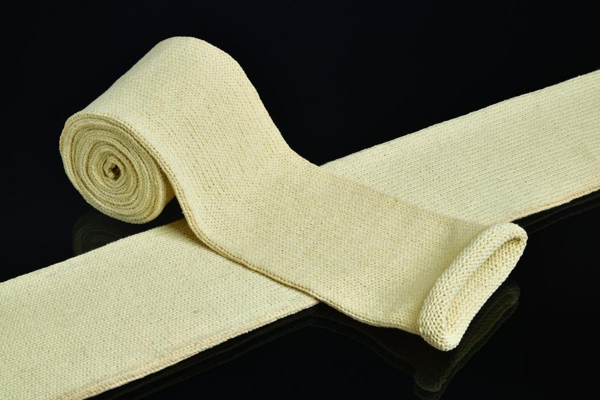 Cut proof fabric knitted aramid yarn